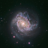 Barred Spiral Galaxy Messier 83 Photographic Print