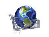 Planet Earth Inside Supermarket Trolley Print