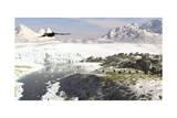 A Receding Glacial Scene Circa 18,000 Years Ago Posters