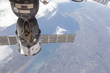 A Docked Russian Soyuz Spacecraft Photographic Print