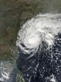 Cyclone Helen Making Landfall in the State of Andhra Pradesh, India Photographic Print