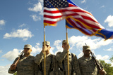 Members of the Minot Air Force Base Honor Guard Photographic Print