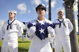 Members of the Joint Base Pearl Harbor-Hickam Honors and Ceremonial Guard Photographic Print
