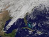 A Powerful Cold Front Moving from the Central United States to the East Coast Photographic Print