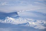 An Eruption Plume Emanating from Kliuchevskoi Volcano Photographic Print