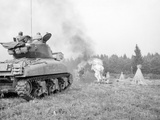 An M4A3E8 76Mm Armed Sherman Tank with Flame Thrower Photographic Print