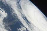 Hurricane Katia over the Atlantic Ocean Off the Northeastern USA Coastline Photographic Print