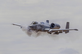 A U.S. Air Force A-10 Thunderbolt Ii Fires its 30Mm Cannon Photographic Print