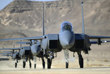 A Group of F-15E Strike Eagles at Uvda Air Force Base, Israel Photographic Print