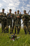 Armed Forces of Ukraine Soldiers Participate in a Field Training Exercise Photographic Print