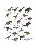 Set of Dinosaurs Poster
