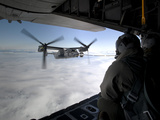 A Cv-22B Osprey Receives Fuel Off the Coast of Greenland Photographic Print