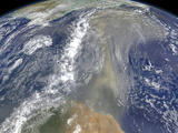 Dust Heading West Toward South America and the Gulf of Mexico. Photographic Print