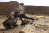 .S. Marine Gunner Provides Security with an M240B Medium Machine Gun Photographic Print
