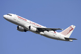 Airbus A320 of Tunisair Airline Photographic Print