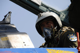 A Pilot with the Ukraine Air Force Prepares for an Exercise Photographic Print
