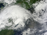 Low-End Derecho Storm over the Northeastern United States Photographic Print
