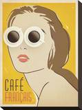 Cafe Francais Stretched Canvas Print by  Anderson Design Group