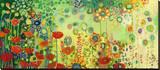 Garden Poetry Trykk på strukket lerret av Jennifer Lommers