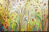 Welcome to My Garden Stretched Canvas Print by Jennifer Lommers