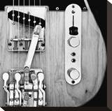 Classic Guitar Detail VIII Stretched Canvas Print by Richard James