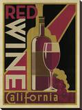 Red Wine Poster Stretched Canvas Print by  Anderson Design Group