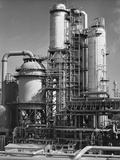 Industrial Catalytic Cracking Unit Photographic Print