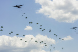 A C-130 Hercules Drop U.S. Army Airborne Troops over Maryland Photographic Print
