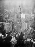 Aerial View of the Woolworth Building in Manhattan Photographic Print