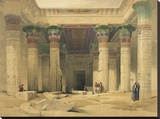 Temple of Philae Stretched Canvas Print by David Roberts