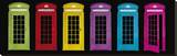 Phone Boxes Stretched Canvas Print by Tom Frazier