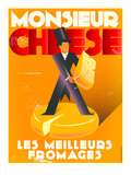 Monsieur Cheese Print by Diego Patino