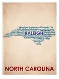 North Carolina - Art Print