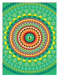 Tribal African Green Pattern Posters by Patricia Pino