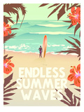 Endless Summer Wave Art by Diego Patino