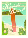 Waikiki Posters by Diego Patino