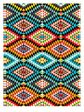 Tribal African Fabric Pattern Prints by Patricia Pino