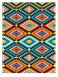 Tribal African Fabric Pattern Láminas por Patricia Pino