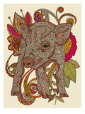 Paisley Piggy Art by Valentina Ramos