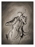 The Cellist Dark Poster by Marc Allante