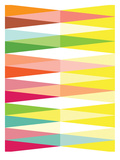Spring Geometric Triangle Prints by Patricia Pino