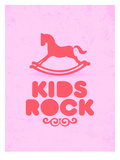 Kids Rock (pink) Poster by Patricia Pino
