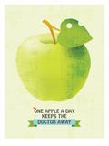 One Apple Poster by Patricia Pino