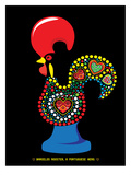 Portuguese Rooster Black Prints by Patricia Pino