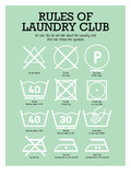 Laundry Club Green Prints by Patricia Pino