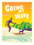 Going My Wave Posters by Diego Patino