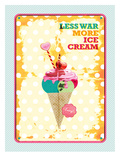 Less War More Ice Cream Art by Patricia Pino