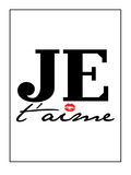 Je T'aime Posters by Patricia Pino