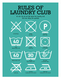 Laundry Club Teal Prints by Patricia Pino