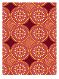 Tribal African Red Pattern Prints by Patricia Pino